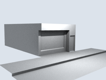 Modelo do SketchUp renderizado no Blender