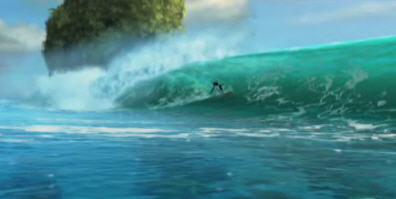 Surf`s Up água renderizada