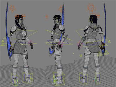 Kehel Warrior - Wireframe