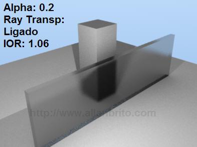Blender 2.45 - SVN 03 - Vidro Jateado - raytracing