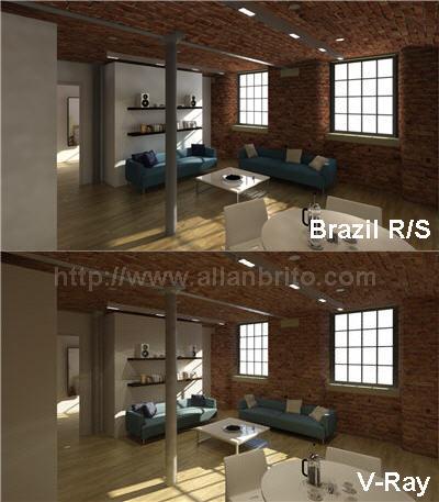 Comparação entre V-Ray e Brazil R/S