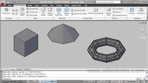autocad-2010-modelagem-3d-mesh