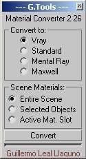 Script 3ds Max - Converter VRay Mental Ray Maxwell Render