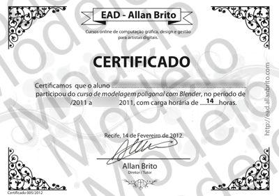 Certificados Dos Cursos No Ead Allan Brito Allan Brito