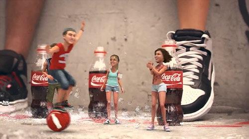 Comercial da Coca-Cola produzido com Blender