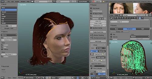 Configurando cabelos em personagens 3d