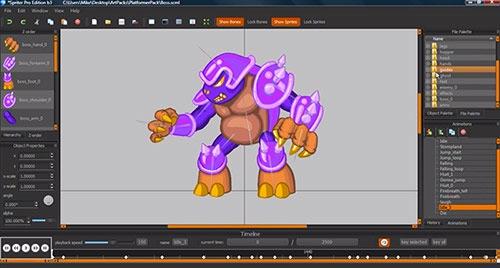 Animação 2D para jogos: Spriter