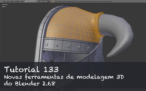 Ferramentas de modelagem 3d do Blender 2.68