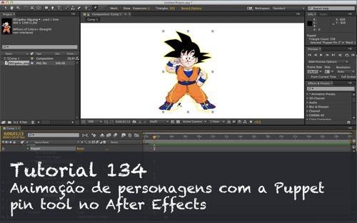 Tutorial 134: Animação de personagens com o Puppet pin tool no After Effects