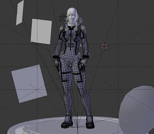 Download personagem 3d gratuita wire