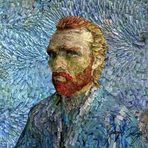 Van Gogh em 3d usando Blender
