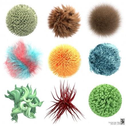 Download de biblioteca de cabelos para o Blender Cycles
