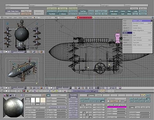 Blender 2.2 Interface