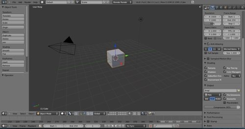 Blender 2.5 interface