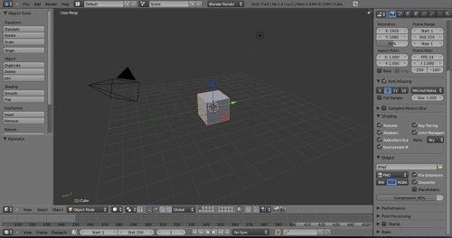 Blender 2.5 interface