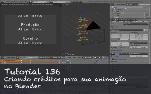 Tutorial 136: Adicionando créditos em animações com o Blender
