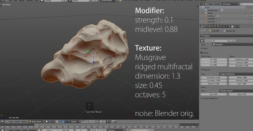 Tutorial sobre displacement maps no Blender