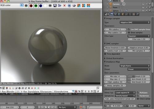 Blender com suporte oficial para renderizar no V-Ray
