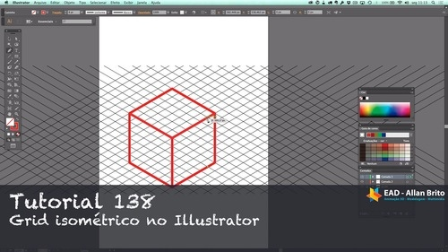 Tutorial 138 – Grade isométrica no Illustrator