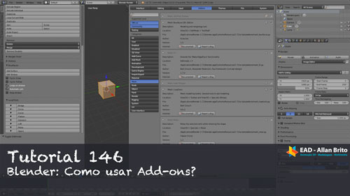 Tutorial 146 – Blender: Usando Add-ons