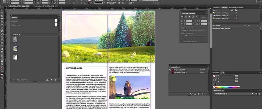 Curso sobre design de livros digitais com InDesign
