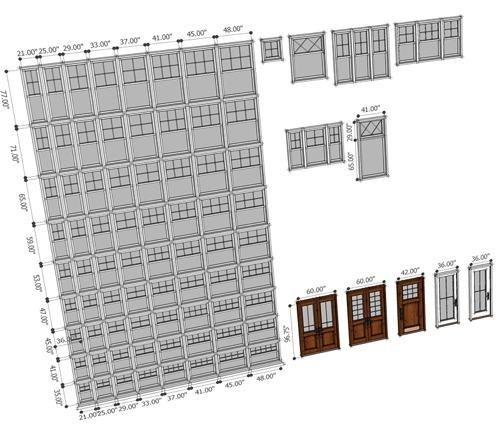 Biblioteca gratuita de janelas e portas para SketchUp