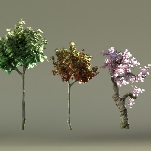 biblioteca de árvores 3d gratuitas