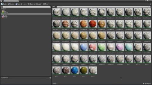 Biblioteca gratuita de materiais e texturas para a Unreal Engine