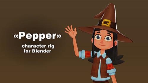 Download gratuito: Personagem com rig 2d completo no Blender