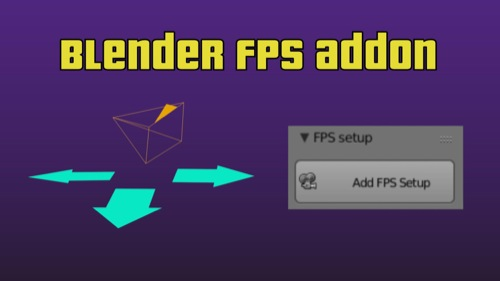 FPS Setup: Add-on gratuito no Blender para jogos