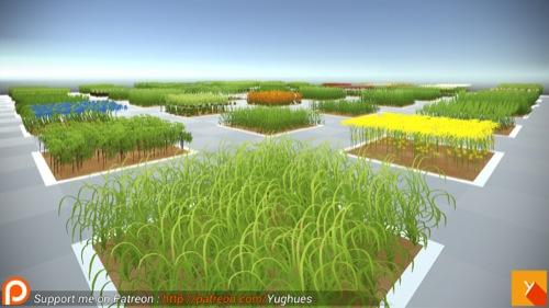 biblioteca de vegetação para o Unity