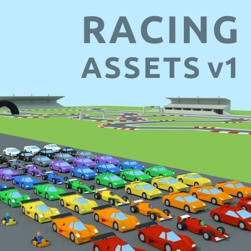 coleção com carros 3D low poly gratuitos