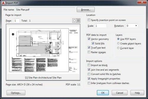 AutoCAD 2017: Importando PDF como vetor