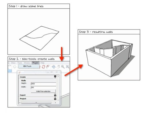 SketchUp BIM com plugin gratuito