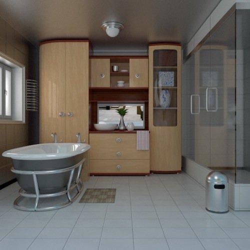 Download gratuito de banheiro completo no Cycles