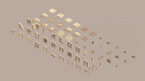 coleção de blocos isométricos para jogos