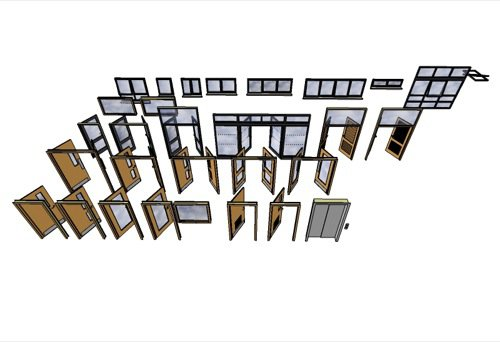 Portas e janelas para SketchUp