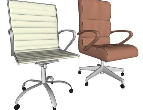 Cadeiras para escritório otimizadas no SketchUp