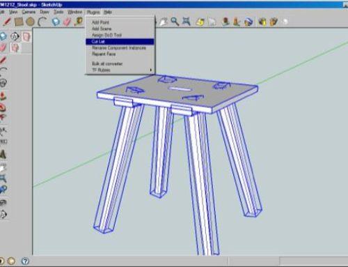 Design de móveis com SketchUp: Criando listas de corte
