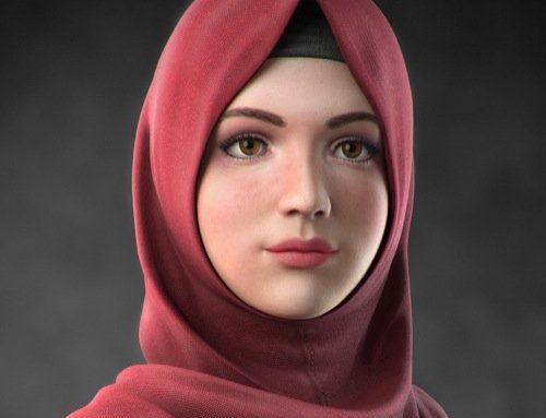 Melody: Personagem virtual criada no Blender