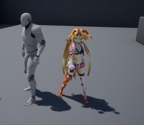 Personagem 3D gratuita para Unreal Engine