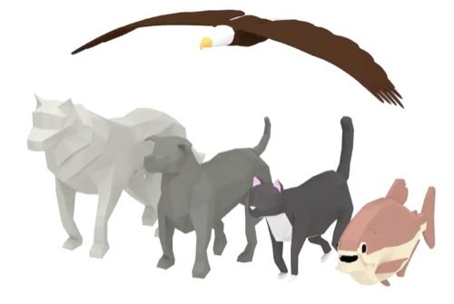 Download gratuito de animais 3d low poly animados