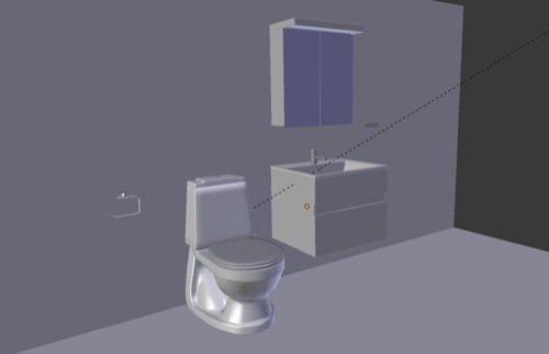 Download gratuito de móveis para banheiro