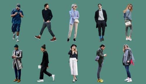 Recortes de pessoas para arquitetura e ilustração digital