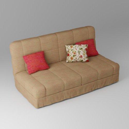 Download gratuito de sofá 3d com almofadas