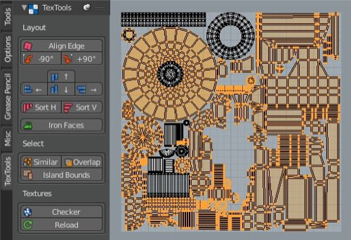 TexTools: Add-on gratuito para editar mapas UV no Blender