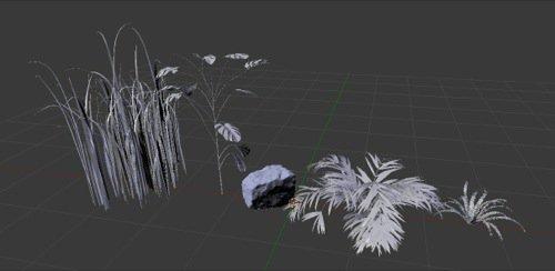 Vegetação 3D gratuita com texturas