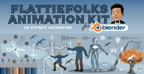 Pacote gratuito de animação 2D no Blender