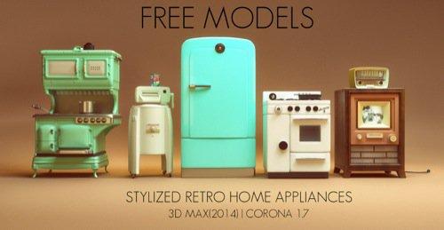 Download gratuito de móveis estilo retro