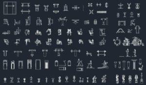110 blocos gratuitos para AutoCAD sobre academias